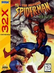 Spiderman Web of Fire 32X Cover