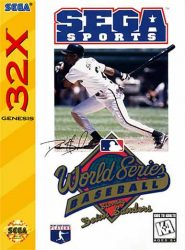 World Series Baseball 32X Cover