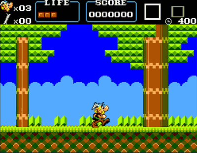 Asterix Master System Screenshot