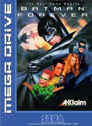 Batman Forever Japanese Megadrive Cover