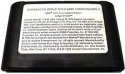 Genesis Blockbuster World Video Game Championships II Cart