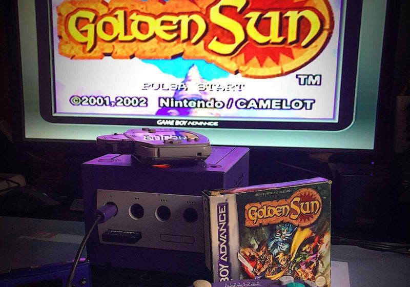 Golden Sun Playing on Game Boy Player and Gamecube