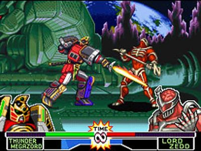 Mighty Morphin Power Rangers: The Fighting Edition Screenshot