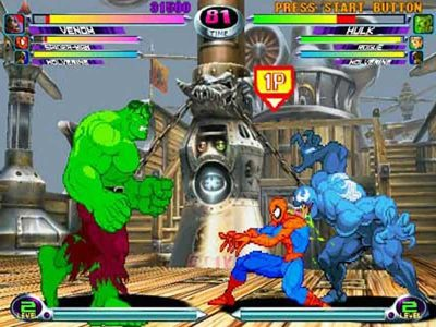 Marvel vs Capcom Screenshot
