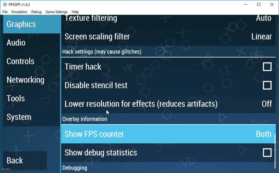 ppsspp best graphics settings pc