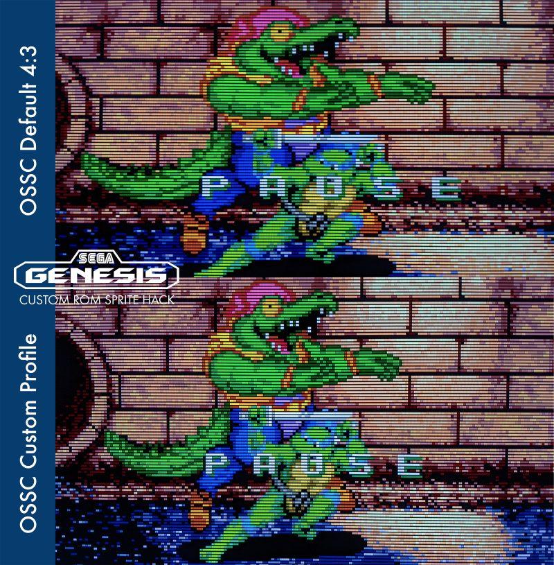Custom Sega Genesis OSSC Profile - Hyperstone Heist - Custom Sprite Hack ROM