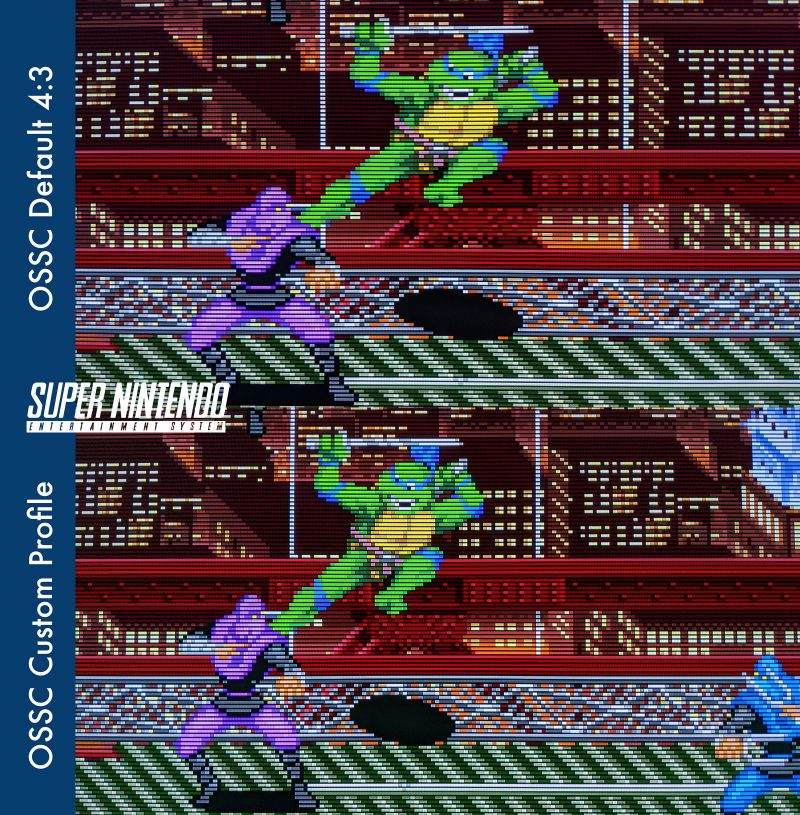 Custom Super Nintendo / SNES OSSC Profile - Turtles in Time