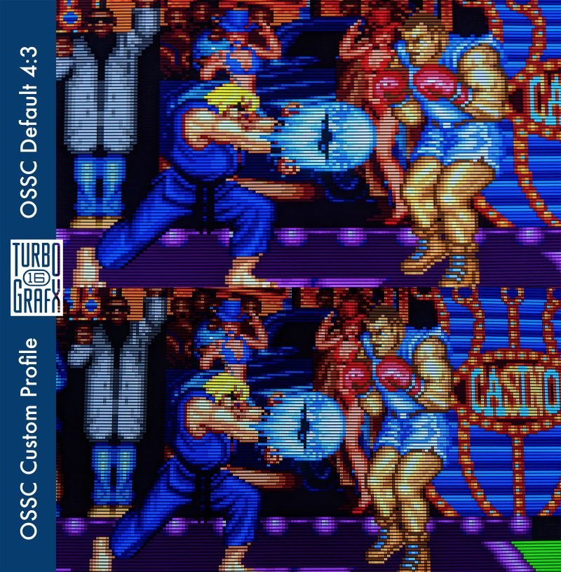 Custom TurboGrafx-16 OSSC Profile - Street Fighter II