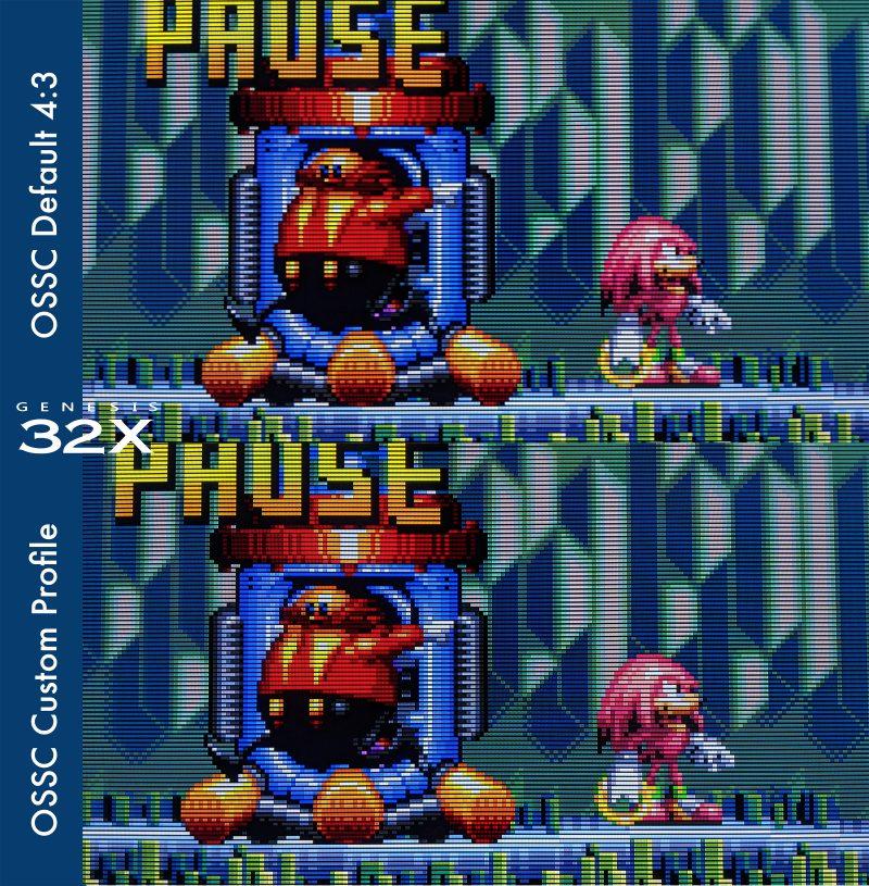 Custom Sega Genesis 32X OSSC Profile - Knuckles Chaotix
