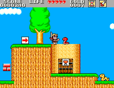 Wonder Boy in a Monster World Screenshot