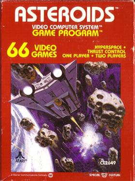 Asteroids Atari 2600 Box