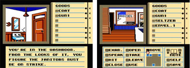 Deja Vu NES Screens