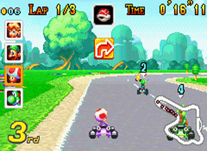 Mario Kart Advance Screenshot