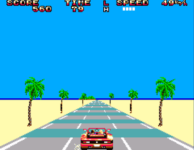 Outrun Master System Screenshot