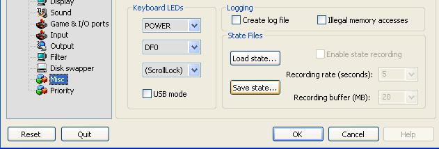 Save & load states