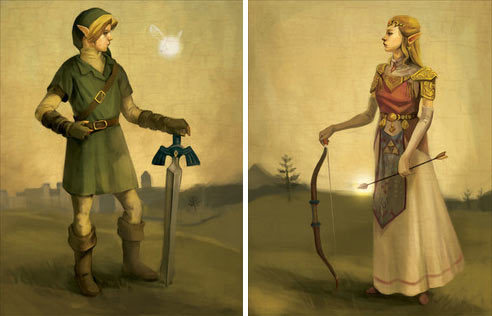 Hero of Hyrule & Princess Zelda by Elizabeth Sherry
