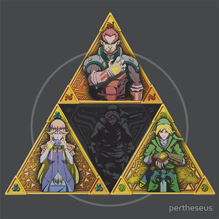 """The Triforce... and a bit of darkness"" by pertheseus"