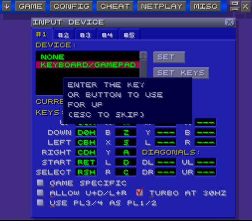 ZSNES controls