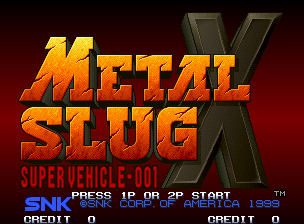 Metal Slug X Title