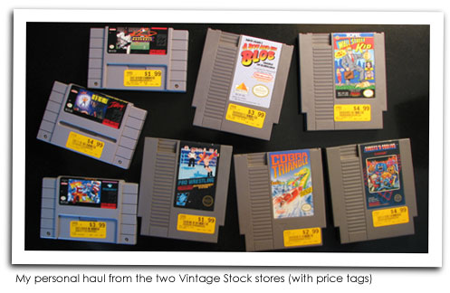 My Vintage Stock Game Purchases