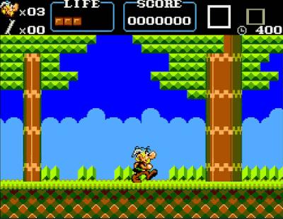 Asterix Master System Screenshot