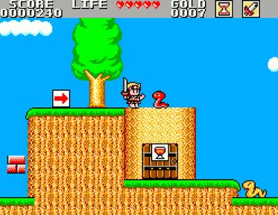 Wonder Boy in a Monster World Screenshot