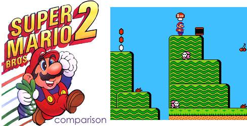 Super Mario Bros 2 Doki Doki Panic Port Comparison