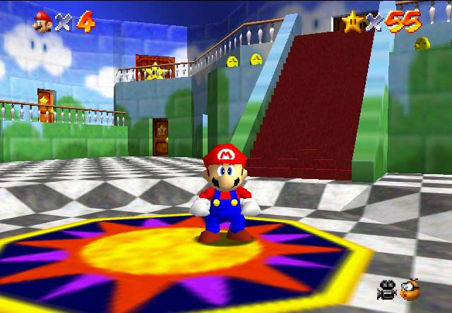 defines the nintendo 64 it would be super mario 64 a launch title