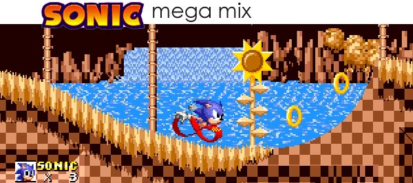 New Sonic The Hedgehog Rom Hack Sonic 1 Mega Mix Retrogaming With Racketboy